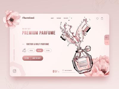 Premium Parfume Home Page Concept website webdesign minimal main page landingpage landing homepage daily creativity web ux ui design