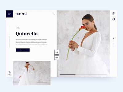Bridals Collection Concept best shot uiux uxui ux ui website design daily creativity fashion white minimalistic minimalism tenderness dress bride wedding webdesign
