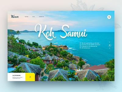 Koh Samui concept flying uidesign thailand samui beach sea concept landing creativity webdesign daily website ux ui