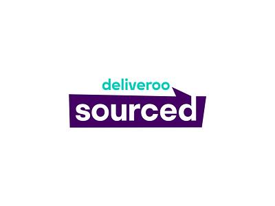 Deliveroo Sourced design identity branding logo design logo