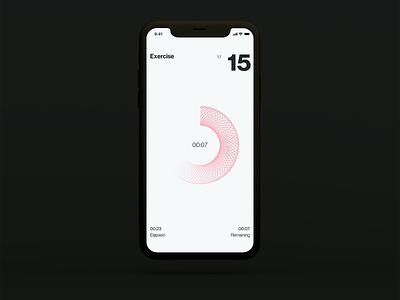 HIIT app concept app design exercise hiit interface ios app ux ui