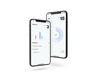 HIIT app concept ios application interval trainer uxdesign app design ui design exercise app