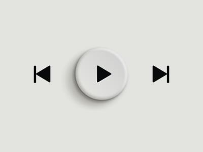 Play button design ux ui app skeuomorph app player play neumorphism neuomorphic skeumorphism skeuomorphic