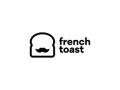 French Toast mustache bread french toast branding marque brand logo