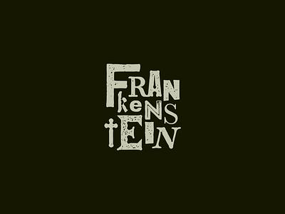 Frankenstein logo halloween horror frankenstein typography design identity brand marque branding illustration logo