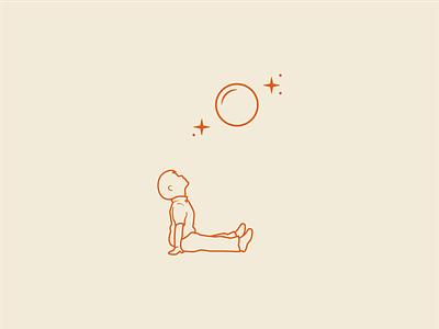Harry & The Moon moon stars kids children illustration branding logo