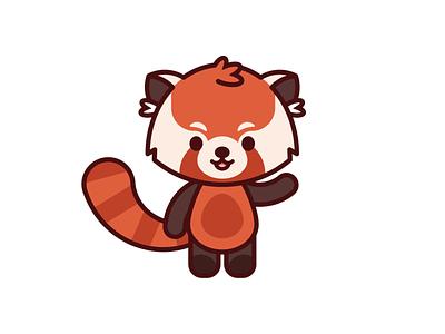 Red Panda chibi vector illustrator red panda illustration
