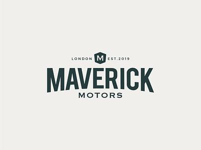 Maverick Motors automotive car brand branding logotype logo