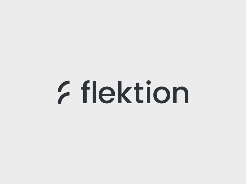 Flektion consultancy clean simple graphicdesign design minimal logodesign logo