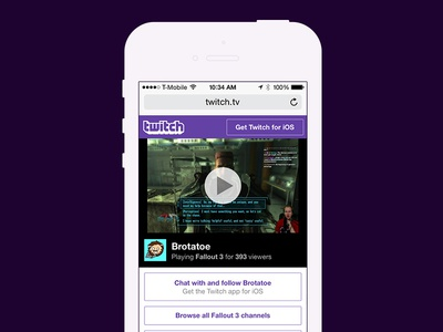 Twitch's New Mobile Web Channel Page