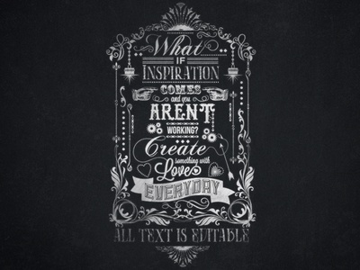 What If Inspiration Print's Chalkboard Typography