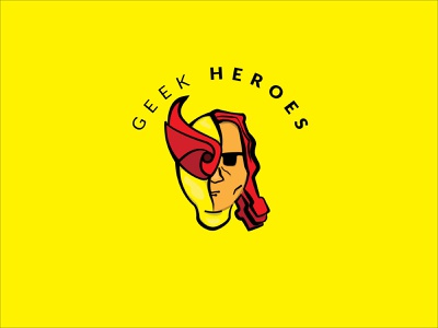 Geek Heroes character logotype design vector logodesign logo simple logo illustration