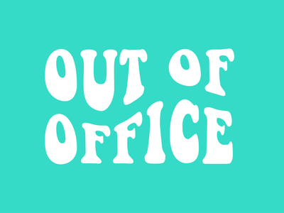 Out Of Office groovy 70sscript 70 70sdesign 70s clothing design clothing company apparel design apparel graphics small business loans small business smallbusiness smallbiz apparel ooo outdoors vacation rental vacations vacation outofoffice