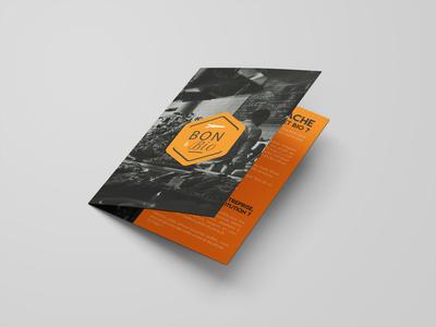 Bon Et Bio bi-fold brochure