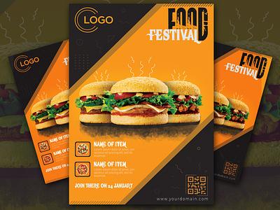 Food Festival Flyer flyer template pdf print ready colorful food burger logo awesome design amazing design fetival food flyer layered businessflyer branding black psd cmyk 300dpi design creative