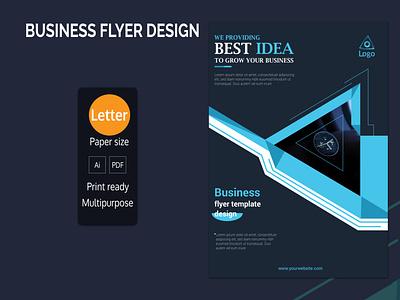 Business Flyer Design bule professional amazing deisng colorful print ready corporate simple clean black layered best concept businessflyer logo illustration branding psd cmyk 300dpi design creative