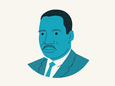 MLK portrait jr king luther martin