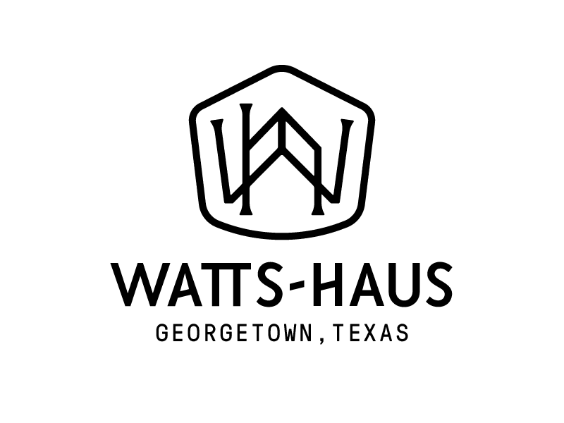 Watts-Haus icon typography logo monogram