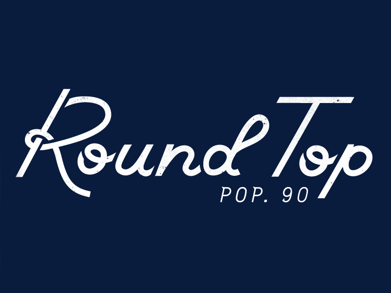 Round Top type script typography