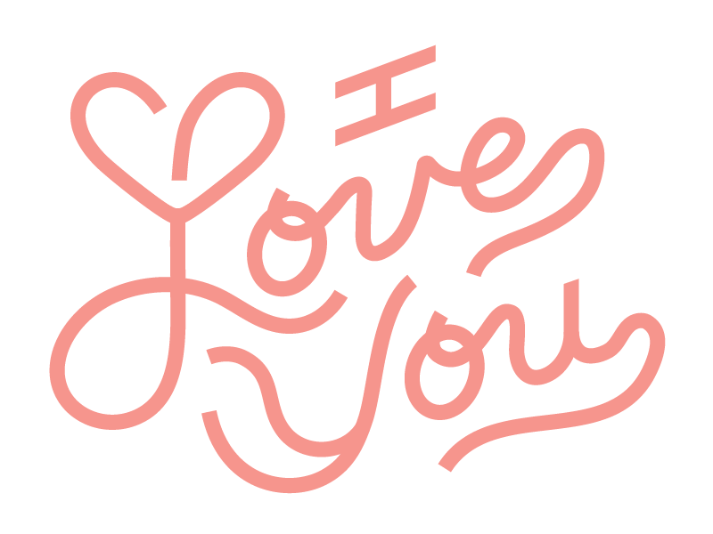 I Love You script typography heart love anniversary valentines card greeting