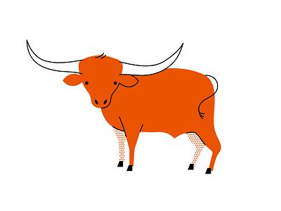 Longhorn illustration animal longhorn cow