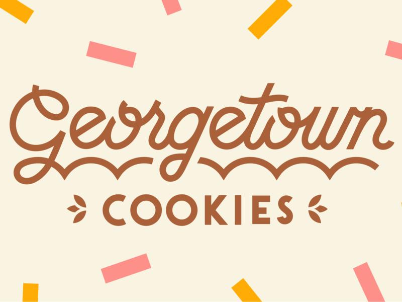 Georgetown Cookies typogaphy sprinkles cookie logo