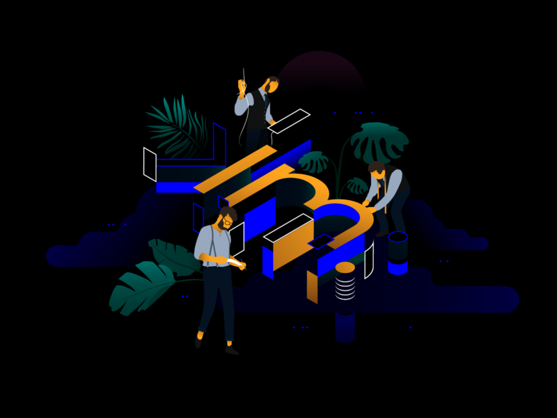 km redesign - Under Construction illustration logo kontrastmoment user interface interfacedesign sci-fi future flat plants creative agency construction typography vector design branding ui website illustration