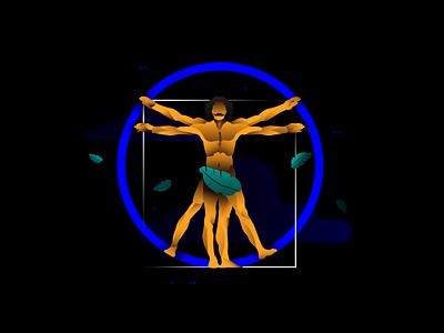 "km redesign – ""UI/UX Design"" service circle davinci creative agency app vector web design branding ui website illustration"
