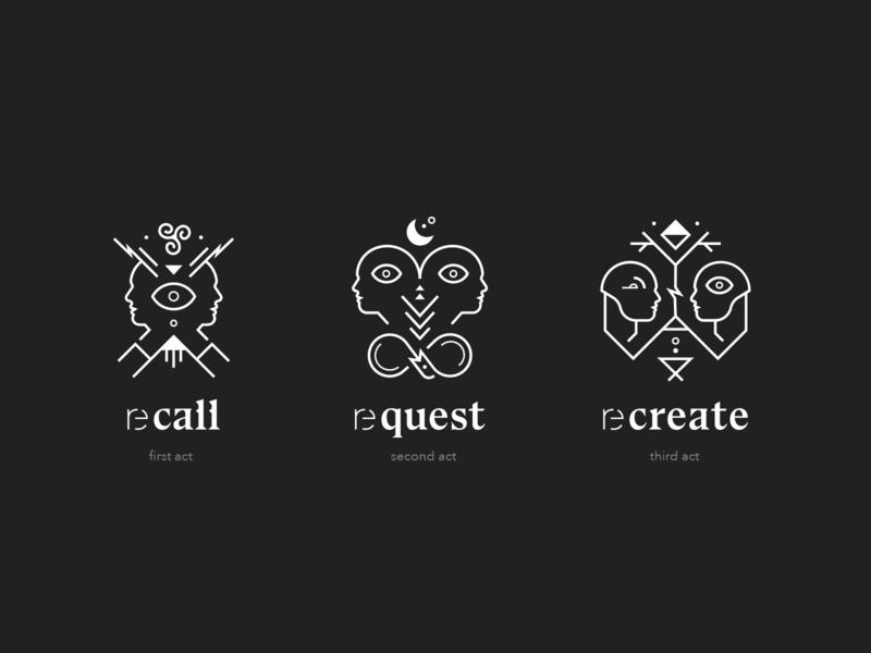 reshow brand and webdesign – Act Illustrations contrast black and white line logo typography dark ui kontrastmoment website branding illustration