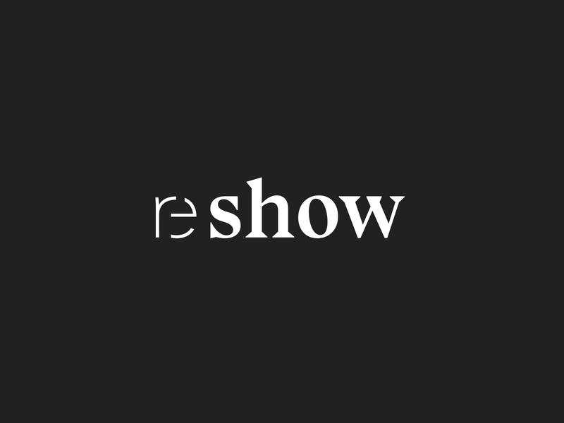 reshow brand and websdesign – Logodesign adc ifdesignaward vector germandesignaward reddot award winning dance theatre creation kontrastmoment reshow sharp typography design logo contrast logodesign branding