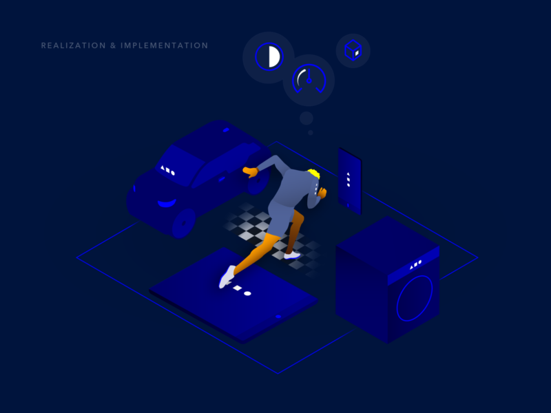 Event Chain – Visual creative agency devices seamless ux ui design pitch visual identity visual visual design kontrastmoment eventchain illustration
