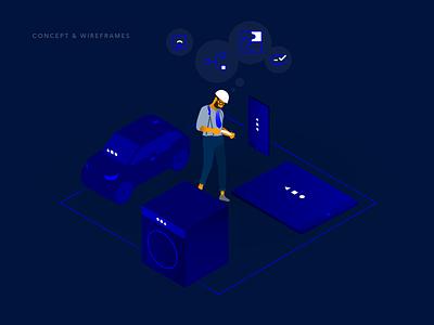 Event Chain – Visual 2 eventchain vector pitch creative agency visual design design ux ui branding illustration