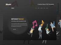 Music PSD Template