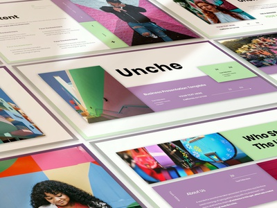 UNCHE - BUSINESS PRESENTATION TEMPLATE ui presentation keynote illustration graphic design design business branding