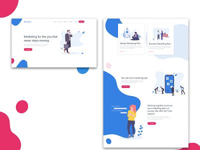 Marketing Page Mockup web website ux vector minimal flat illustration design