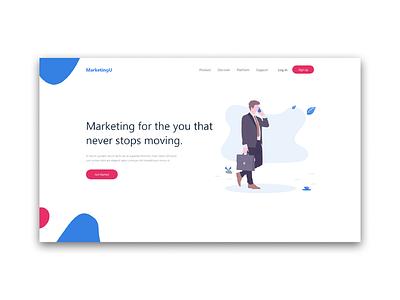 Mock up for marketing page branding ui web minimal website vector ux illustration flat design