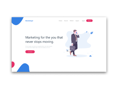 Mock up for marketing page