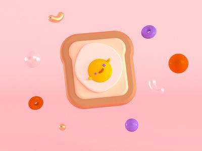 buebito sin catsun render food huevo vrayforc4d cinema4d 3d art 3d characer illustration