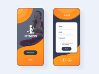 fitness sign up UI