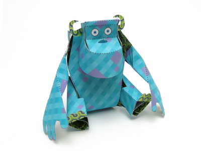 James P. Sullivan papercraft paper engineering monster pattern monsters inc. sulley