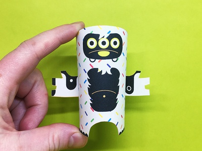 Day 16 the100dayproject paperengineering toy papertoy creature papercraft paper monsters