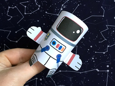 Day 18 astronaut the100dayproject paperengineering toy papertoy creature papercraft paper monsters