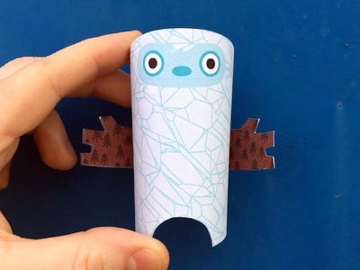 Day 19 the100dayproject paperengineering toy papertoy creature papercraft paper monsters