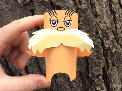 Day 20 drsuess lorax the100dayproject paperengineering toy papertoy creature papercraft paper monsters