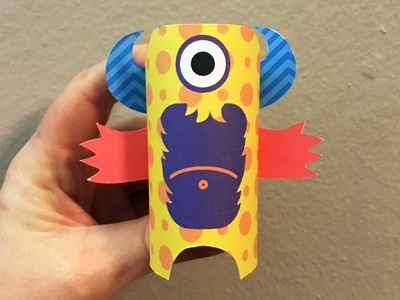 Day 21 the100dayproject paperengineering toy papertoy creature papercraft paper monsters
