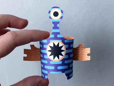 Day 23 the100dayproject paperengineering toy papertoy creature papercraft paper monsters