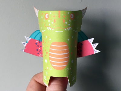Day 24 dragon the100dayproject paperengineering toy papertoy creature papercraft paper monsters