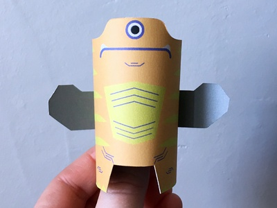Day 27 the100dayproject paperengineering toy papertoy creature papercraft paper monsters
