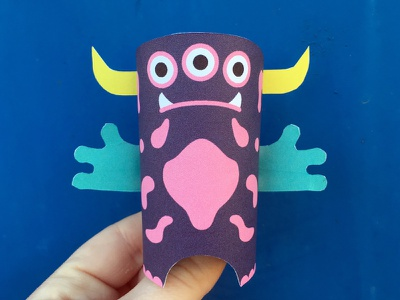 Day 28 the100dayproject paperengineering toy papertoy creature papercraft paper monsters