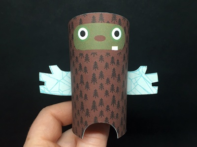 Day 30 sasquatch the100dayproject paperengineering toy papertoy creature papercraft paper monsters